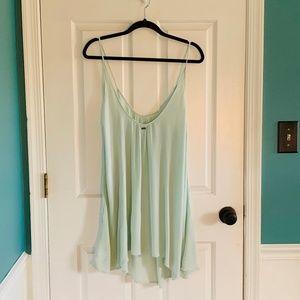 ROXY mint green gauzy flowy coverup dress M